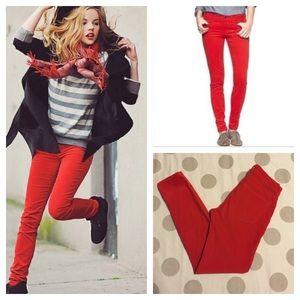 GAP red legging jean cord