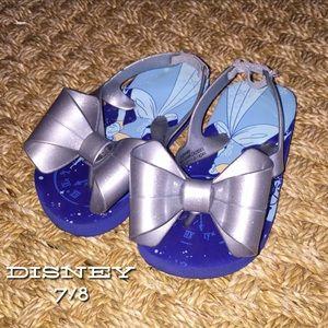 Disney Other - Disney Blue Cinderella Bow Flip Flops 7/8
