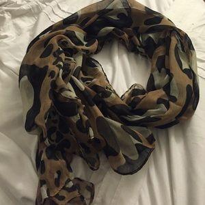 Leopard print scarf/ wrap