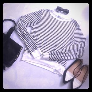 Black and White Striped Wildfox Sweater