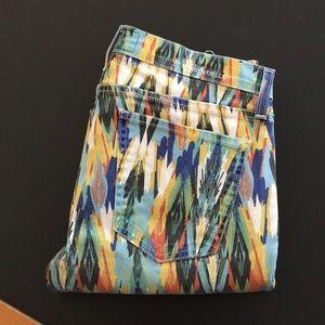 Current Elliott Arrow Print Stiletto Skinny Jeans