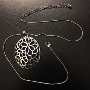 Oval Floral Necklace