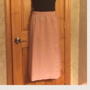 Pink , True Vintage, 1970's Secretary Skirt , 