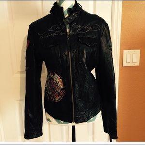 New Ed Hardy leather jacket