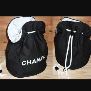 shop for best online outstanding features Vip Barrel Chanel Canvas Drawstring bag