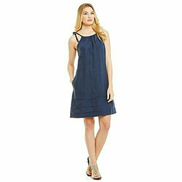 7698bfe29bc 🚨PRICE CUT🚨Two Palms Linen Sundress in Navy