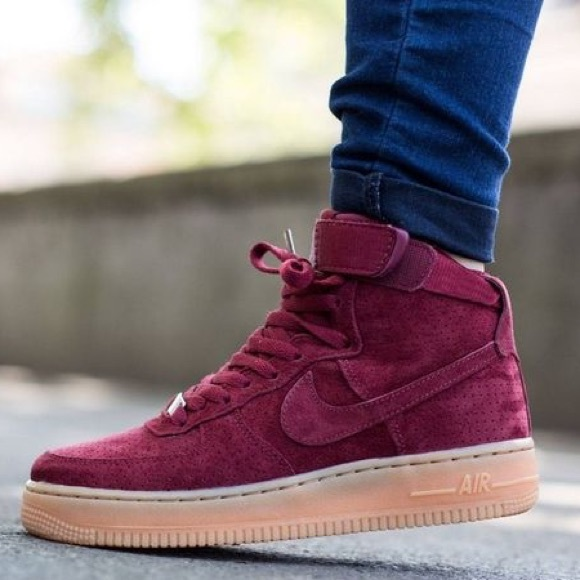 Force Suede High Air 1 Red Nike F1ucKlJ5T3