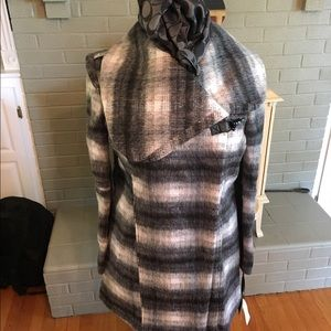 Sam Edelman Jackets & Blazers - Sam Edelmen Striped Wool Blend Coat