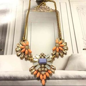J.crew Crystal Fan Necklace, NWT