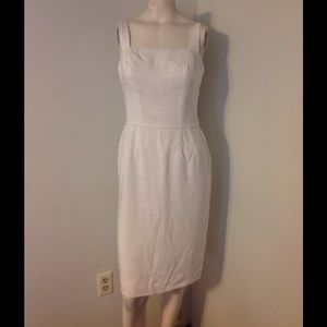 Vintage White 50s Fitted Wiggle Sun Dress S