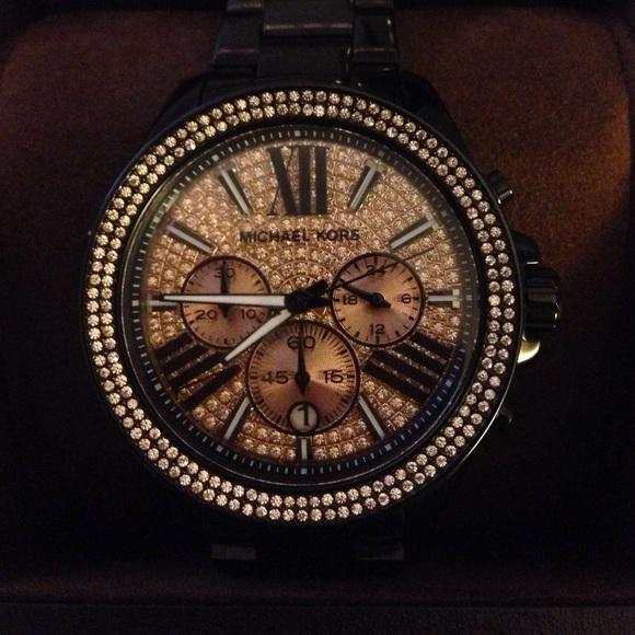 f4a07d3d4d263 Michael Kors Wren Chronograph Glitz Watch MK 5879.  M 57cc34584e8d17fd30000628
