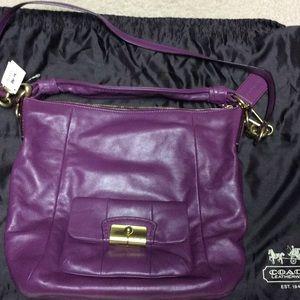 Coach Handbags - NWT Authentic Coach Purple Hobo Purse