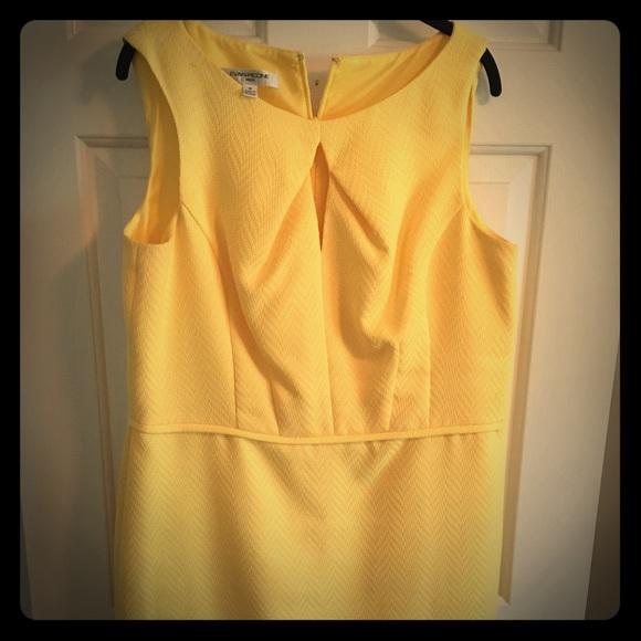 Evan Picone Dresses & Skirts - Yellow Sheath Dress