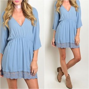 Sweet Indigo Saturday Dress