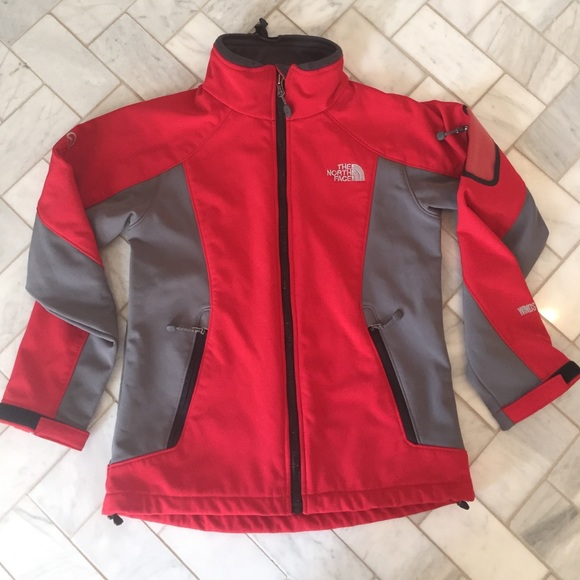 THE NORTH FACE Jacket Windstopper Summit Series Grey Red Size Men's Medium