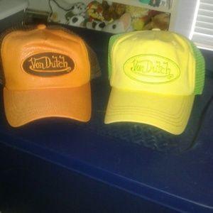 Set of TWO New Von Dutch Authentic trucker hats