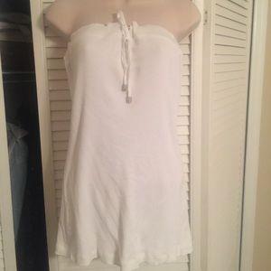 White Bebe sport strapless tunic Size L