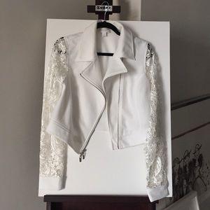 Bisou Bisou Jackets & Blazers - Bisou Bisou Lace Moto Jacket