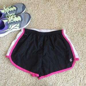 Colosseum Pants - Black/pink/white running/workout shorts