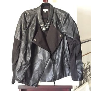 Bisou Bisou Jackets & Blazers - Bisou bisou Faux Leather Moto Jacket