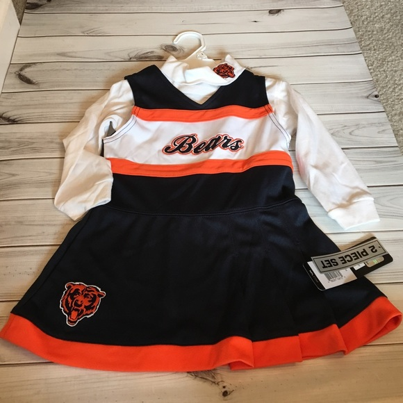 pretty nice f6f64 44e54 NWT girls Chicago Bears cheerleader outfit 2t NWT
