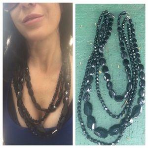Jewelry - Beautiful acrylic beaded multi strand necklace