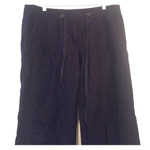 Jcrew navy linen pants