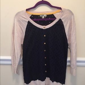 Sweaters - Adorable lace front cardigan size XL