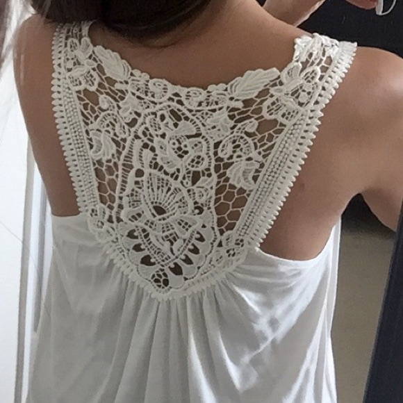 Express Tops - Express crochet lace-back top