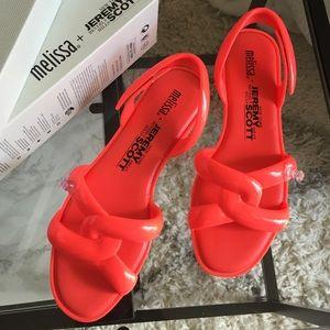 Melissa Shoes - NWT Melissa + Jeremy Scott Tube sandal Sz 8