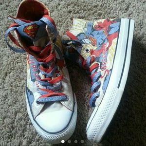 Superman Comic Converse High tops