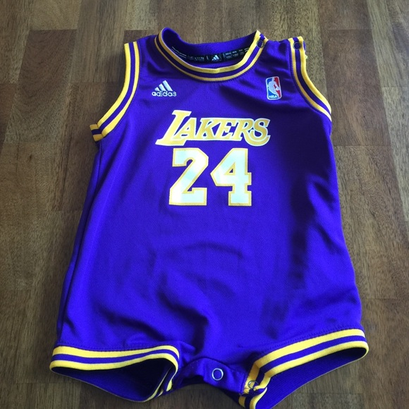 best website 844bc 9e2b9 Adidas Los Angeles Lakers Baby Romper