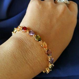 Jewelry - SOLD!!!! -Multi Topaz bracelet 18k YGF