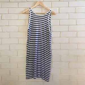 T by Alexander Wang Striped Linen Dress