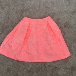 Pink Lilly Pulitzer mini skirt