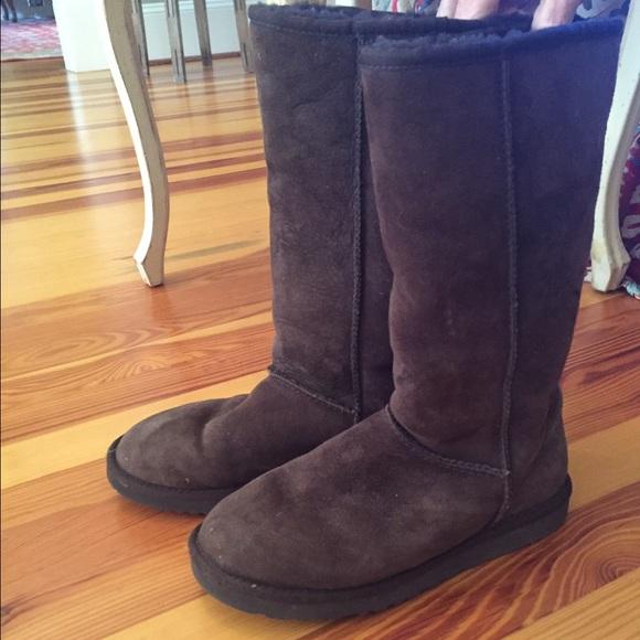 Chocolate Brown Ugg Australia Tall Brown Boots