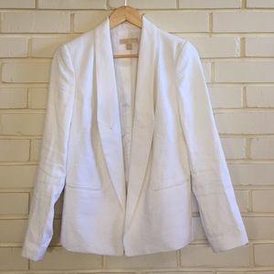 Michael Kors Oversized White Linen Blazer Size 4
