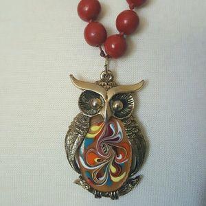 Jewelry - Vintage owl charm necklace