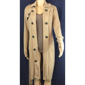 CAbi Sweaters - CABI sweater trench coat, with button details