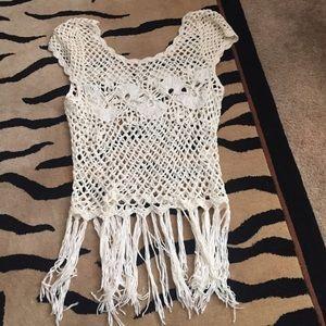 Kirra sweater fringe top size M/L