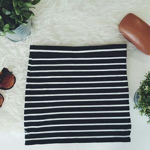 FOREVER21 striped pencil skirt