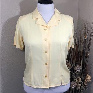 Pale Yellow Button Up Blouse 20% OFF BUNDLE
