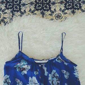 ZARA maxi floral blue dress