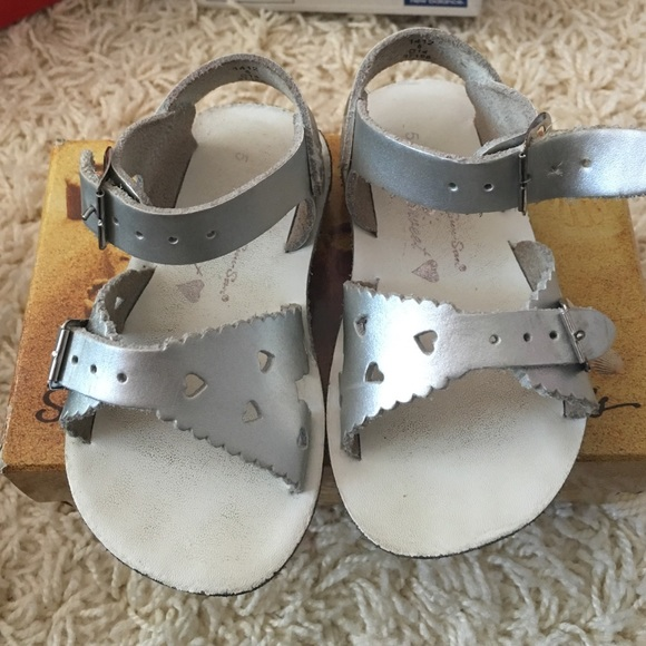 1d2263a9d Salt Water Sandals by Hoy Shoes | Silver Saltwater Sandals Toddler ...