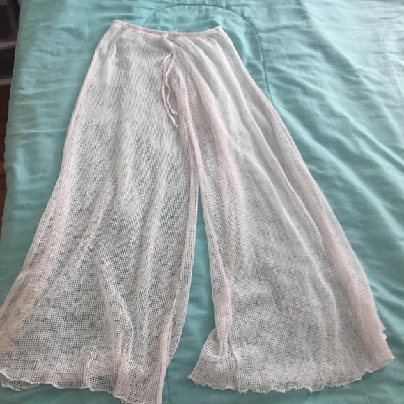 4e7bc242e5f520 Jordan Taylor Pants - White Mesh Beach Coverup Pants
