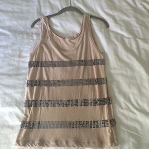 J. Crew tank with sequins