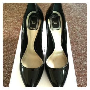 "Dior pumps ,4"" heels ,black patent,"