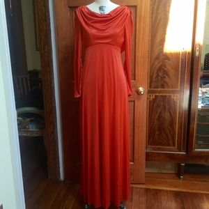 ❗️SALE❗️Vintage Circa Late 1960's Rust  Gown 10