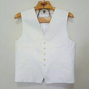 Neil Barrett Other - Neil Barrett White Formal Slim Fit Vest Italy