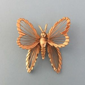 Monet Jewelry - Monet gold butterfly pin